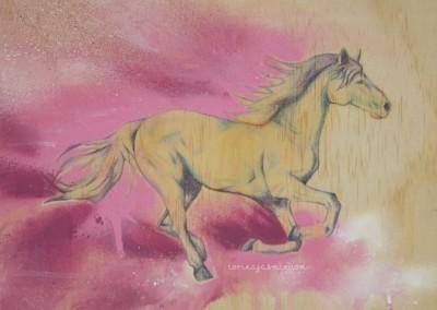 horse mixed media wm